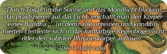 Sonnenmediation Dalai Lama